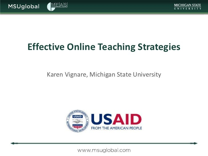 MEAS Course on E-Learning: 3 Effective online teaching strategies