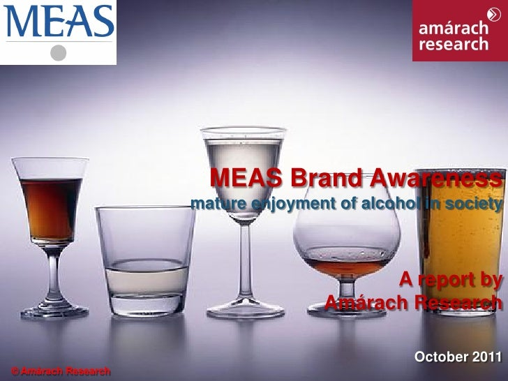 MEAS Drink Aware Research Report October 2011