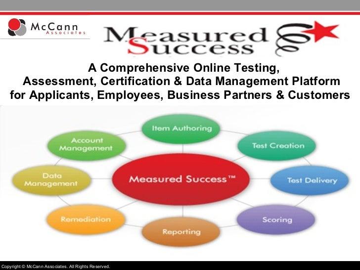 A Comprehensive Online Testing,  Assessment, Certification & Data Management Platform for Applicants, Employees, Business ...