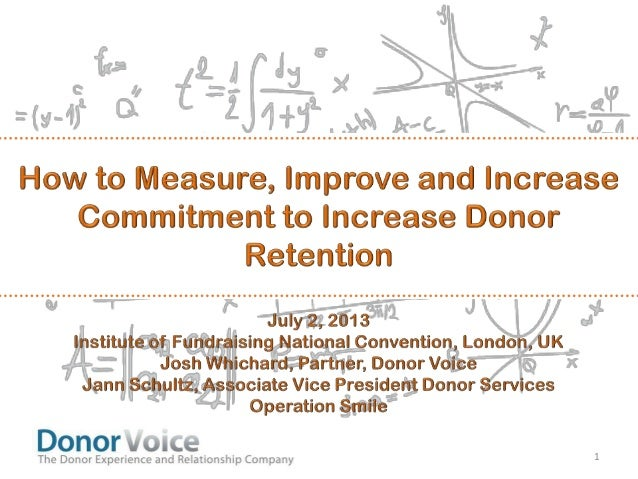 How to Measure, Improve and Increase Commitment for Donor Retention
