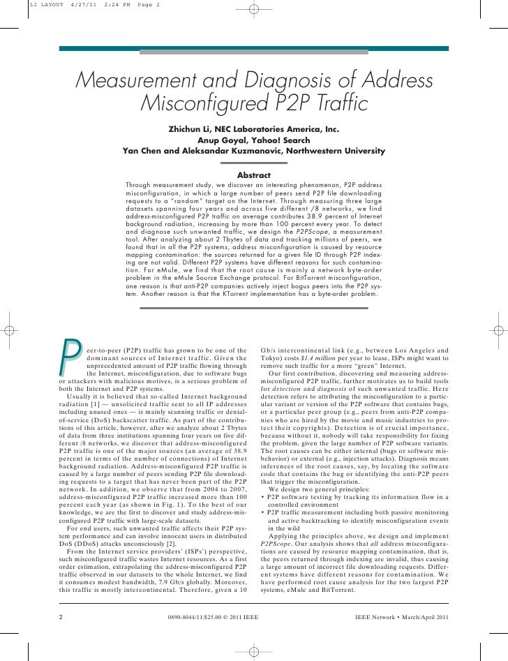 LI LAYOUT   4/27/11   2:24 PM    Page 2             Measurement and Diagnosis of Address                   Misconfigured P...