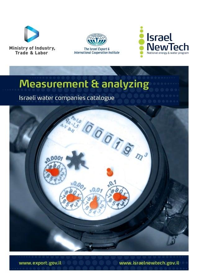 www.export.gov.il www.israelnewtech.gov.il Measurement & analyzing Israeli water companies catalogue