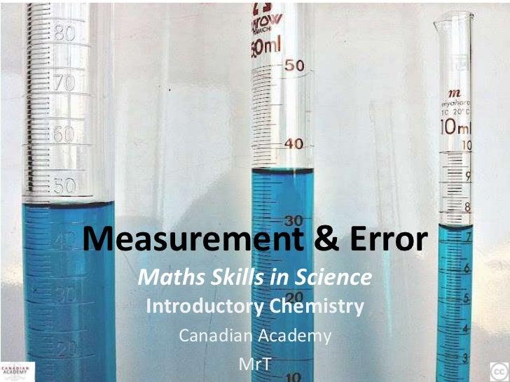 Measurement & Error