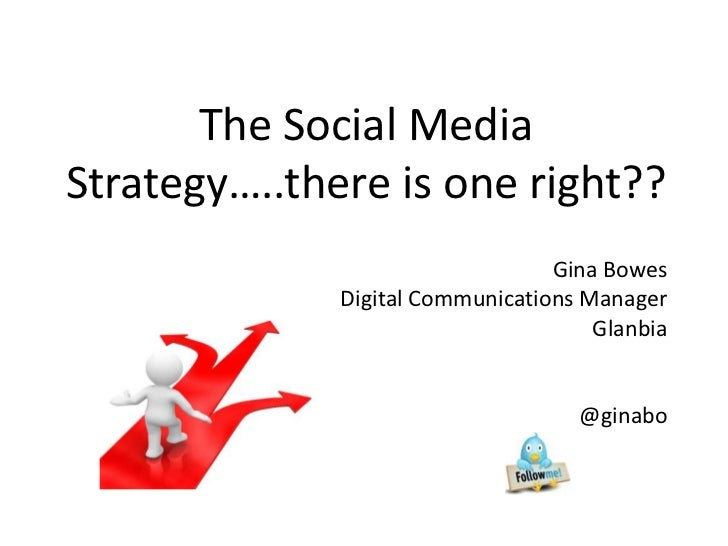 The Social MediaStrategy…..there is one right??                                  Gina Bowes              Digital Communica...