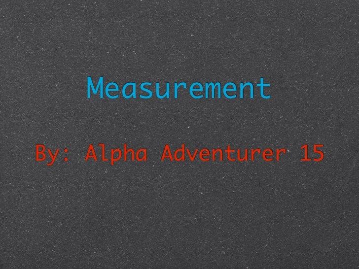 Measurement summative assesment