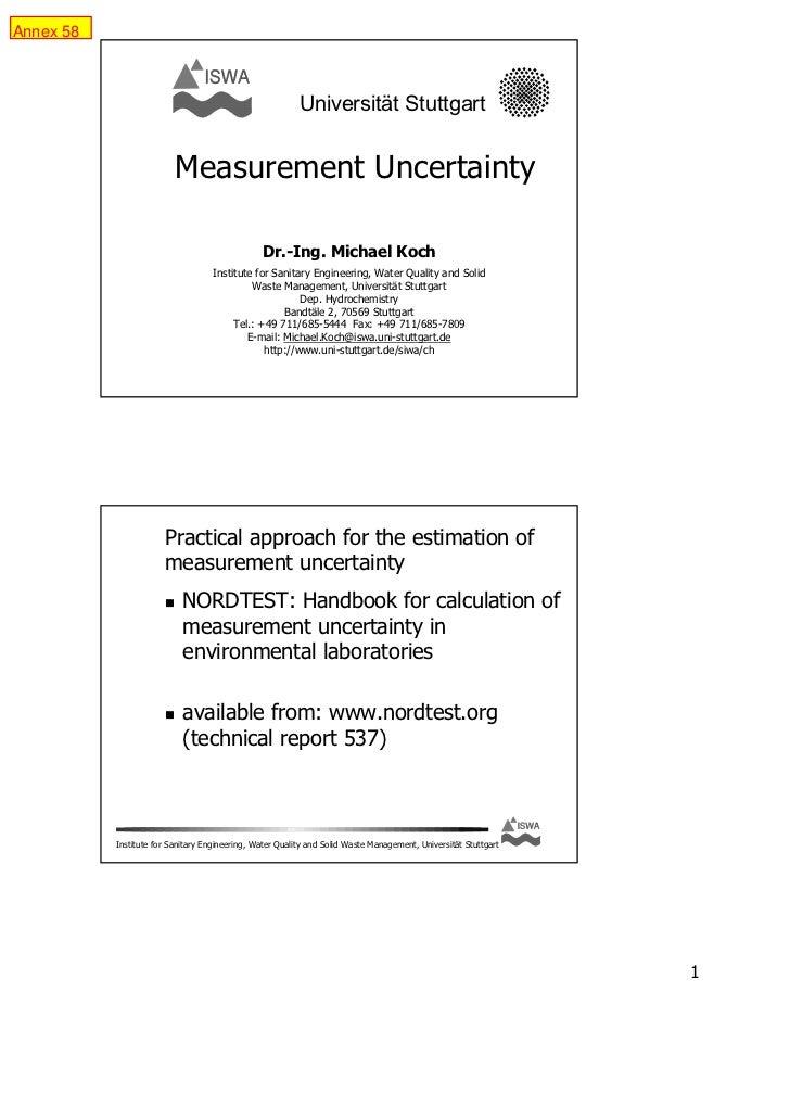 Measurement uncertainty