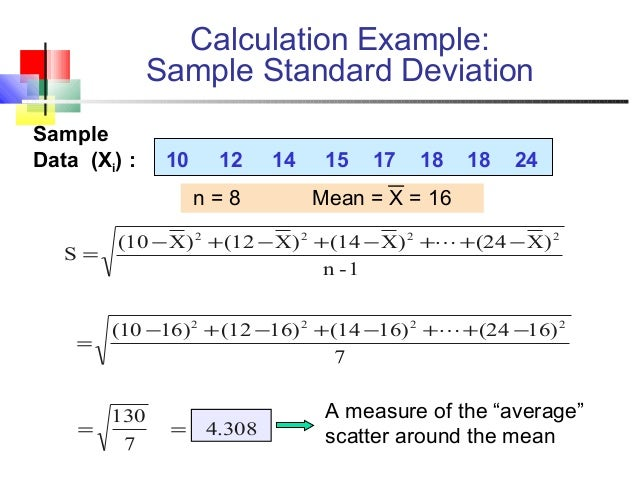 exercise 18 mean standard deviation and Exercises author(s when would the mean grade in a class on a final now assume that you do not know the population standard deviation, but the.