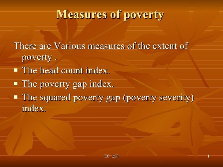 Measures of poverty
