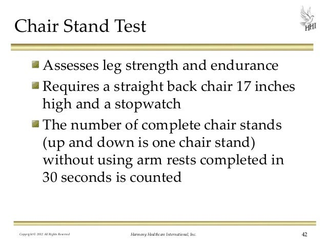 five times sit to stand test score