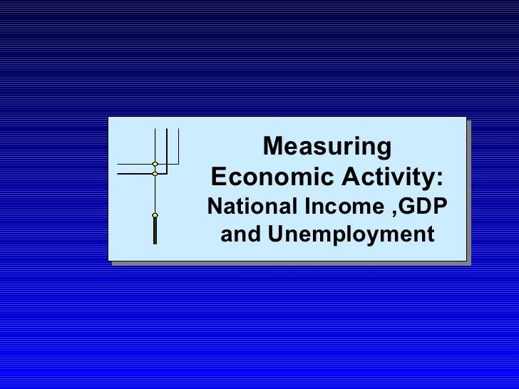 Measuring  Economic  Activitya