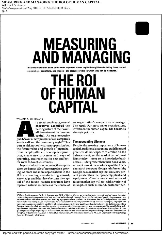 managing human capital essays Free essays on human capital management use our research documents to help you learn 101 - 125.