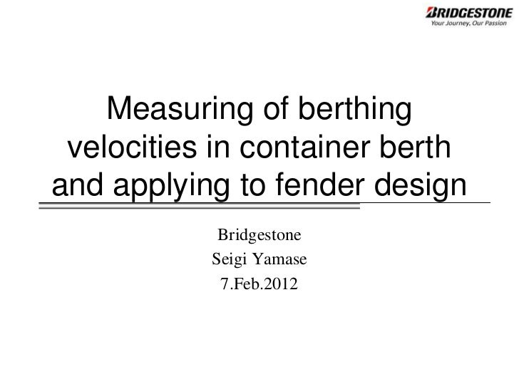 Measuring berthing data
