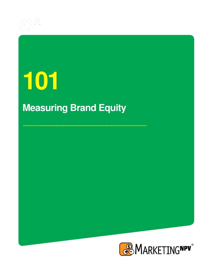 101 Measuring Brand Equity