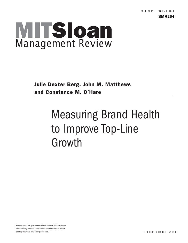 Measuring Brand Health