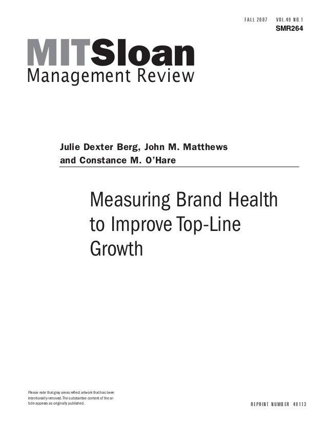 Measuring brandhealth