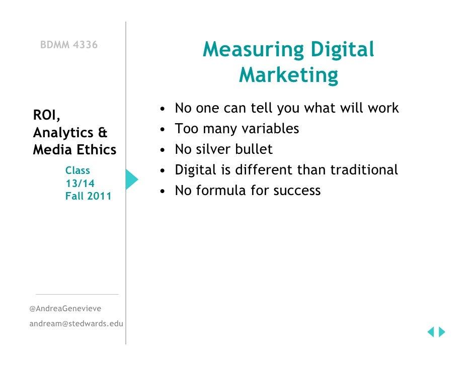 Measuring Digital Marketing