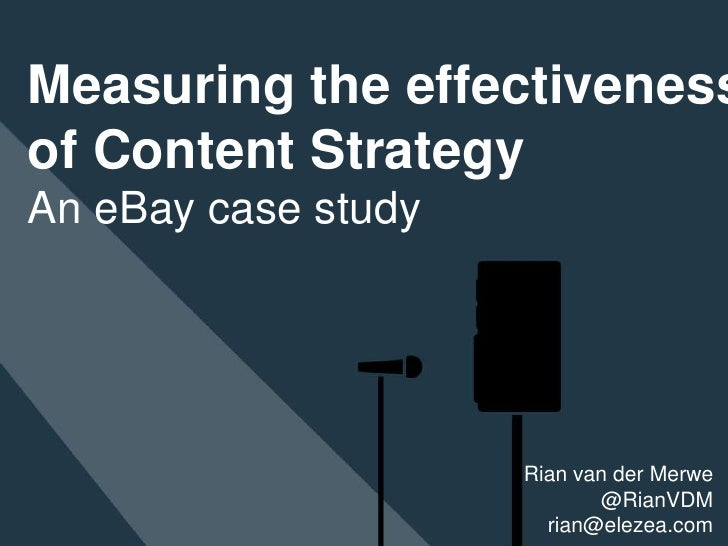 Measuring the effectiveness of content strategy