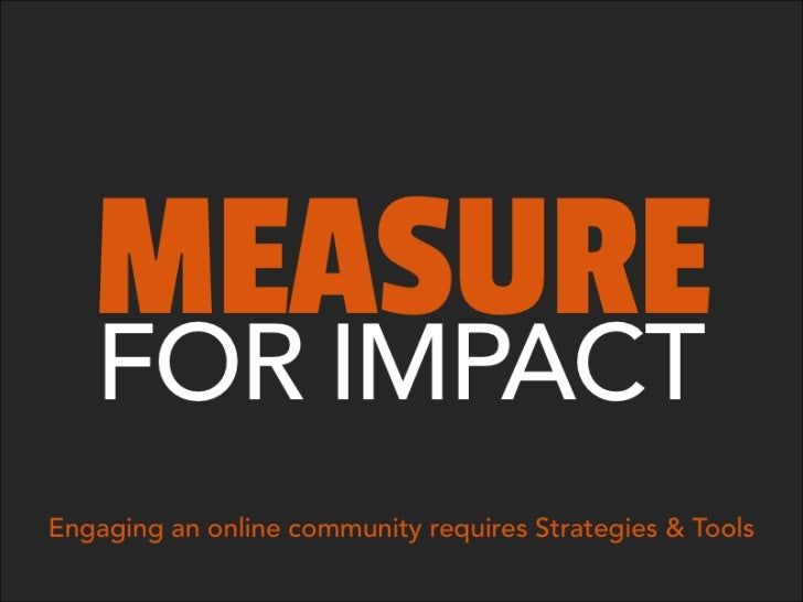 Measuring for Impact