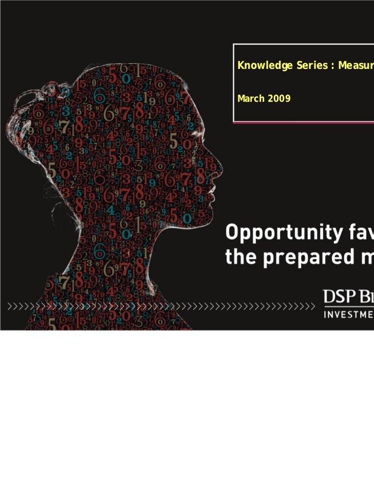 Measuring GDP Dsp blackrock