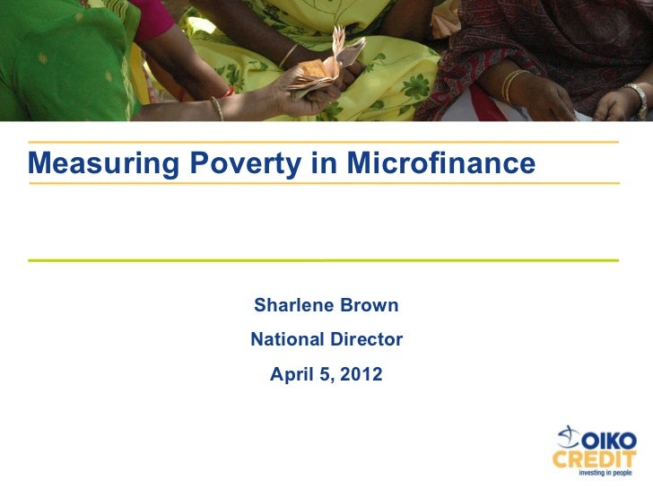 Oikocredit USA: Measuring Poverty Outreach