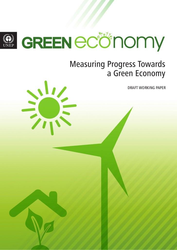 Measuring progress of the green economy
