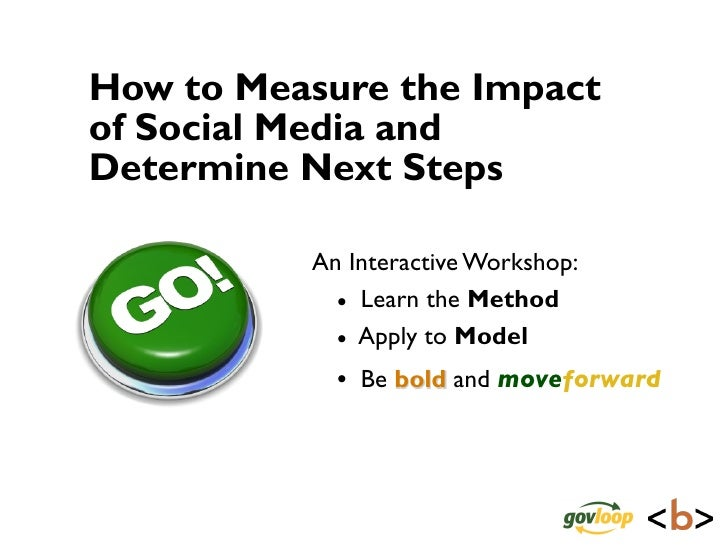 How to Measure the Impact of Social Media and Determine Next Steps            An Interactive Workshop:             • Learn...
