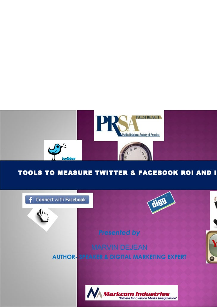 Tools to Measure Twitter & Facebook ROI