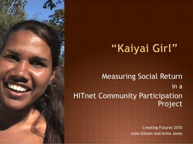 "i  (K  l(aiyai Girl""  Measuring Social Return  in a  H