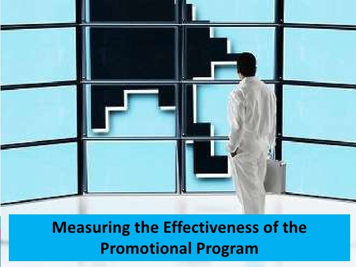 Measuring the effectiveness of the promotional program