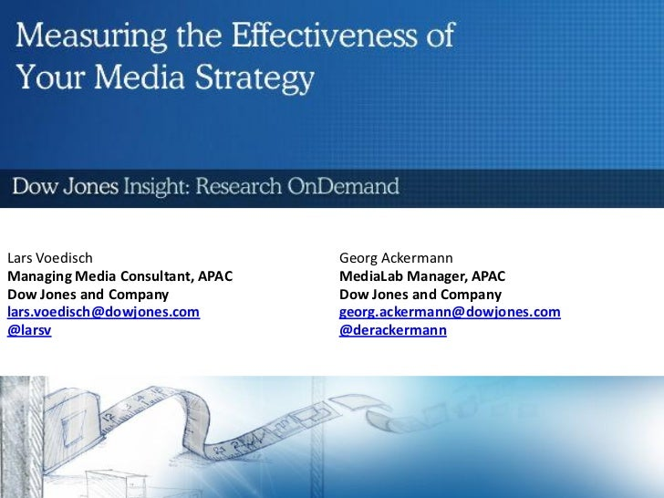 Measuring the Effectiveness of your Media Strategy