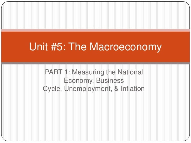 PART 1: Measuring the National Economy, Business Cycle, Unemployment, & Inflation<br />Unit #5: The Macroeconomy<br />