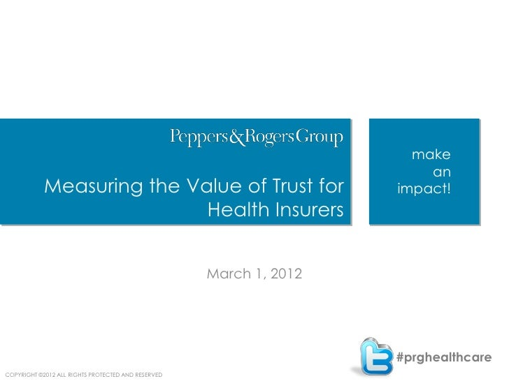 Measuring the Value of Trust for Health Insurers