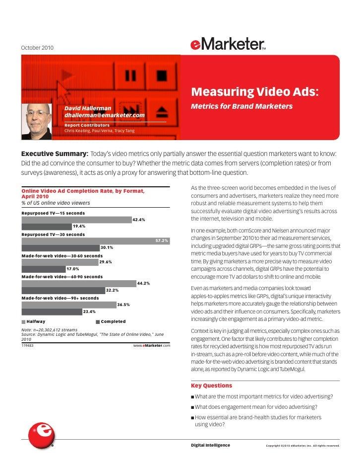 Measuring Video Advertising