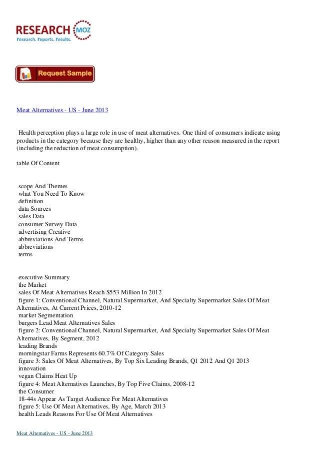 US ResearchMoz - june 2013 Meat alternatives