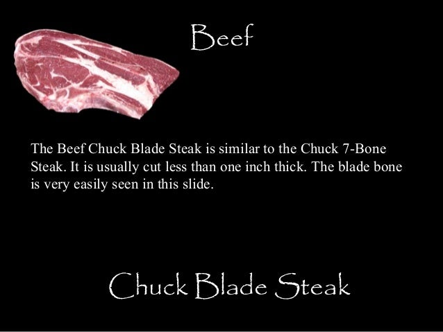 Beef Chuck Steak Bone in to The Chuck 7-bone Steak