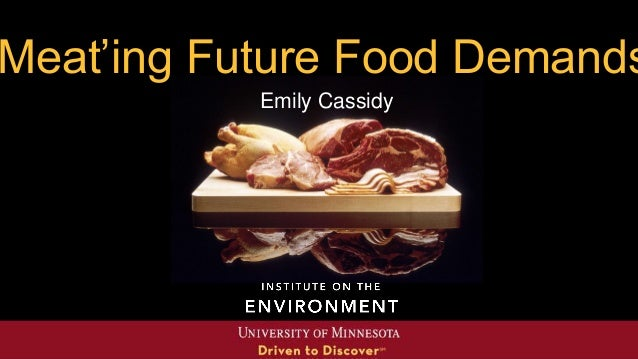 'Meat'ing future food demands