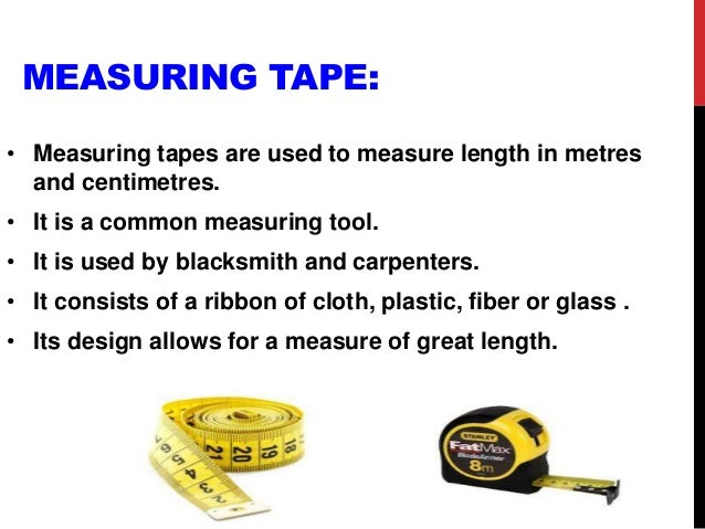 Used Measuring Instruments : Measuring instruments ppt
