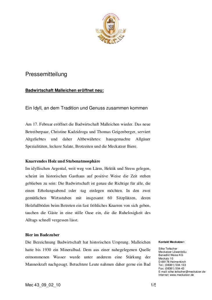 PressemitteilungBadwirtschaft Malleichen eröffnet neu:Ein Idyll, an dem Tradition und Genuss zusammen kommenAm 17. Februar...
