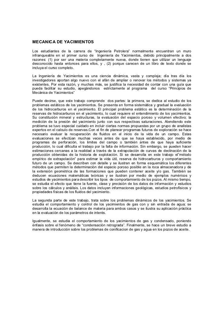 """MECANICA DE YACIMIENTOS  Los estudiantes de la carrera de """"Ingeniería Petrolera"""" normalmente encuentran un muro infranquea..."""