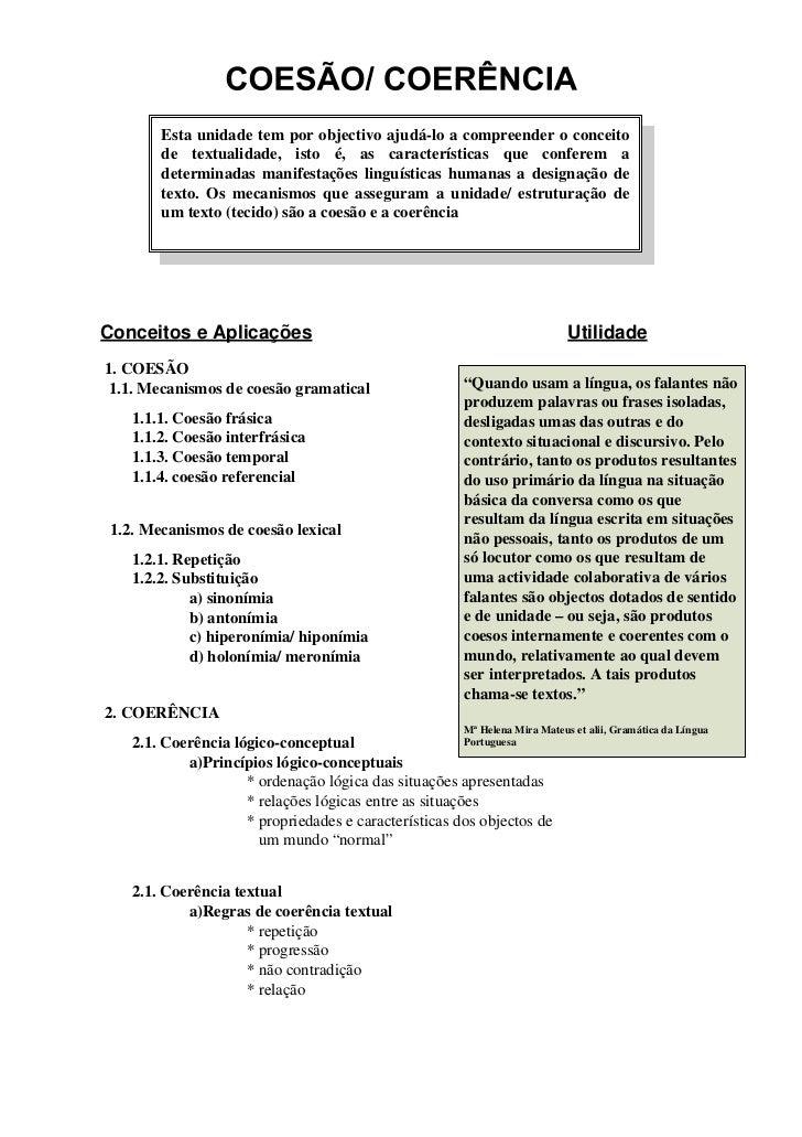 Mecanismos de Coesão