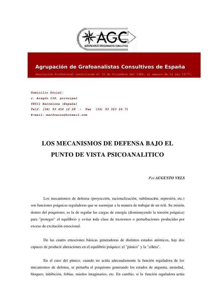 Agrupación de Grafoanalistas Consultivos de España    Asociación Profesional constituida el 10 de Diciembre del 1984, al a...