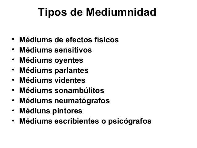 Mecanismos de la mediumnidad