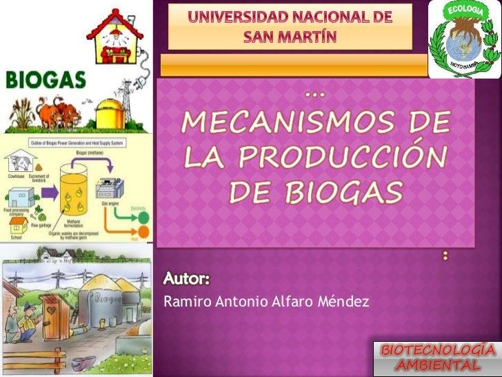 Mecanismos de la produccion de biogás