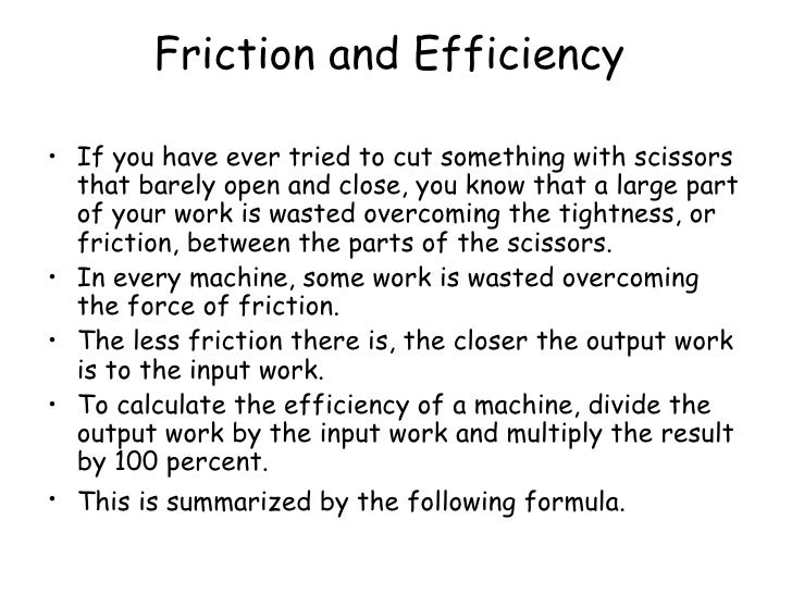how to calculate efficiency of a machine