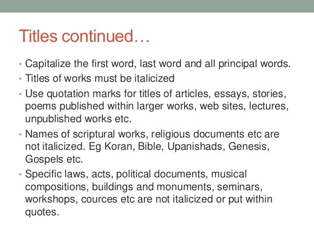 Mlk essay titles capitalization