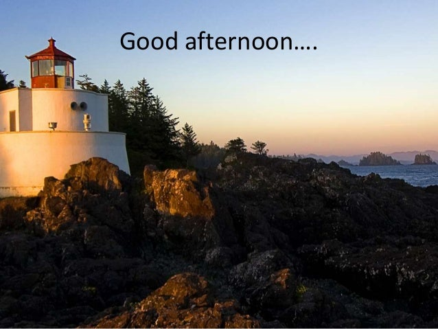 Good afternoon….
