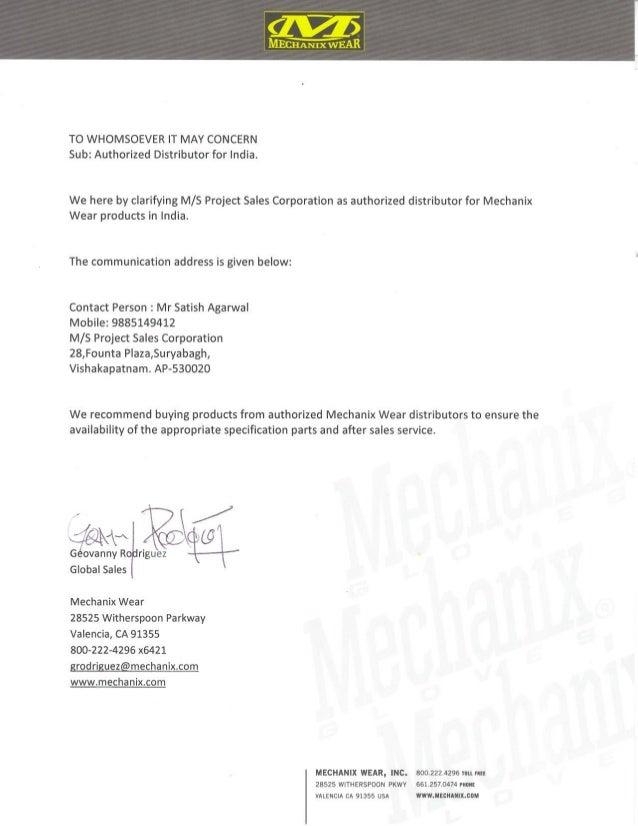 Mechanix Gloves Authorization for India Markets