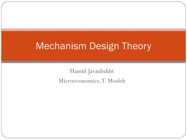 Mechanism Design Theory