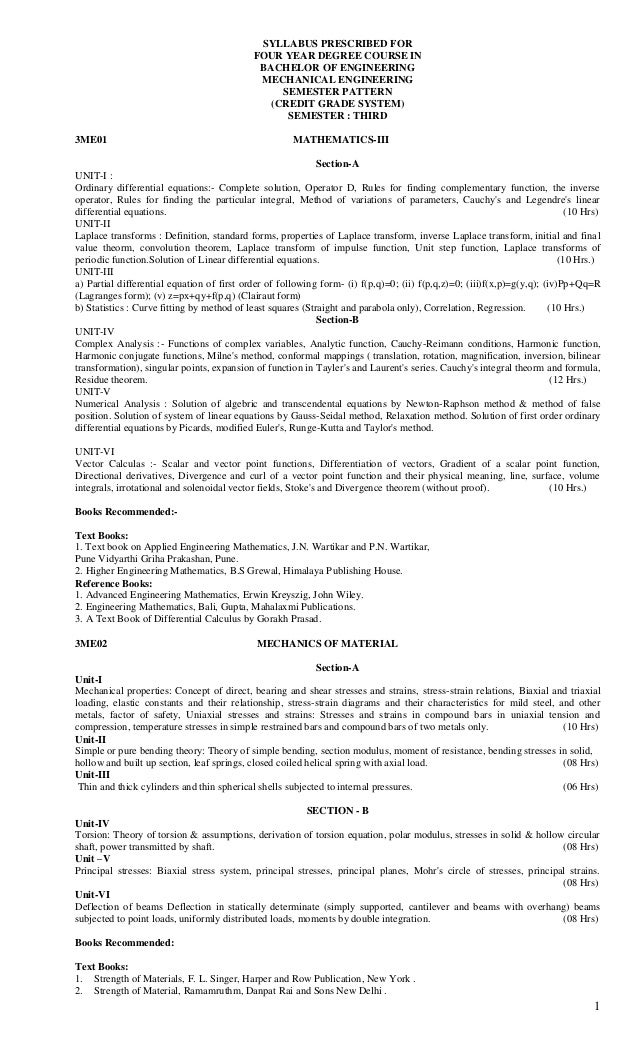 SYLLABUS PRESCRIBED FOR                                            FOUR YEAR DEGREE COURSE IN                             ...