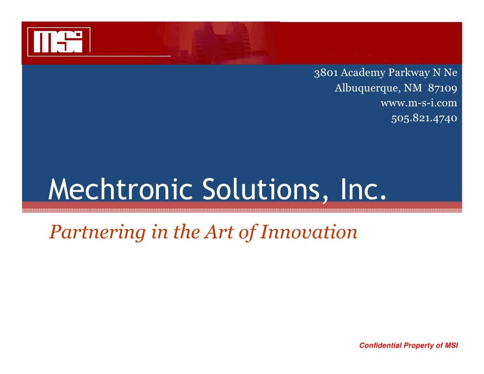 Mechtronic Solutions - Overview